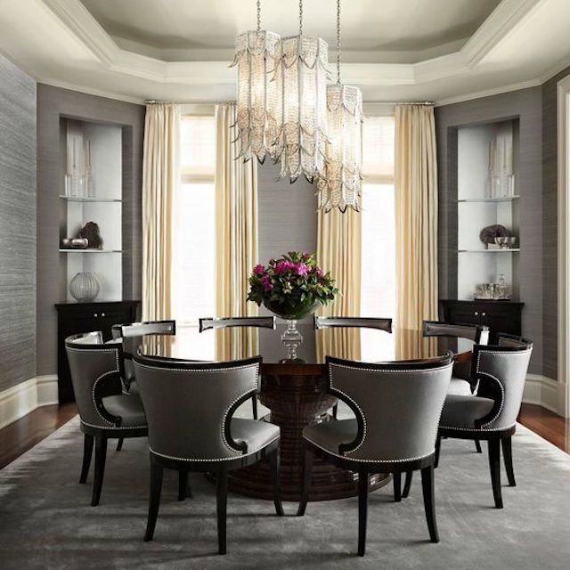 25 Elegant And Exquisite Gray Dining Room Ideas: 25 Gray Dining Room Design Ideas