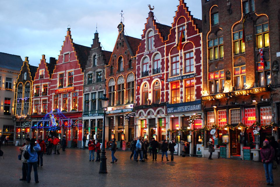 Bruges at Christmas time. A convenient day trip from Brussels