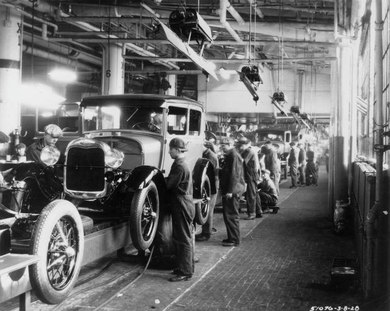 Auto factory in 1928.