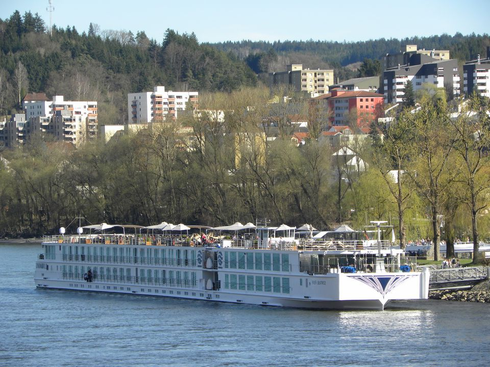 Uniworld Boutique River Cruises' S.S. Beatrice on the Danube River in Passau, Germany