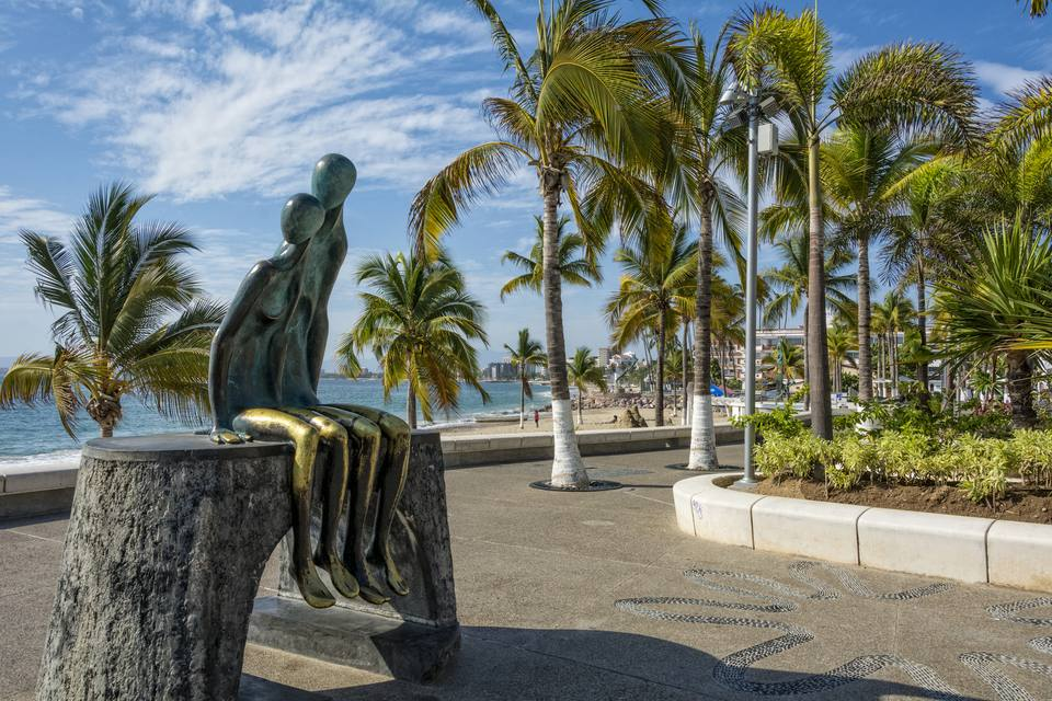 Puerto Vallarta's Malecon boardwalk