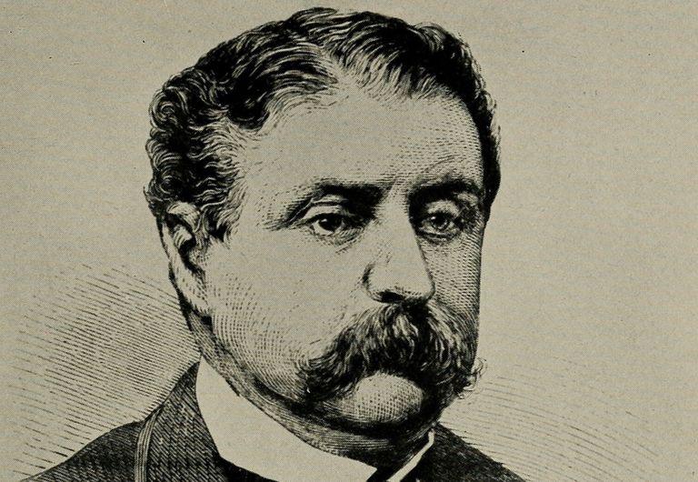 Engraved portrait of Wall Street schemer Jim Fisk