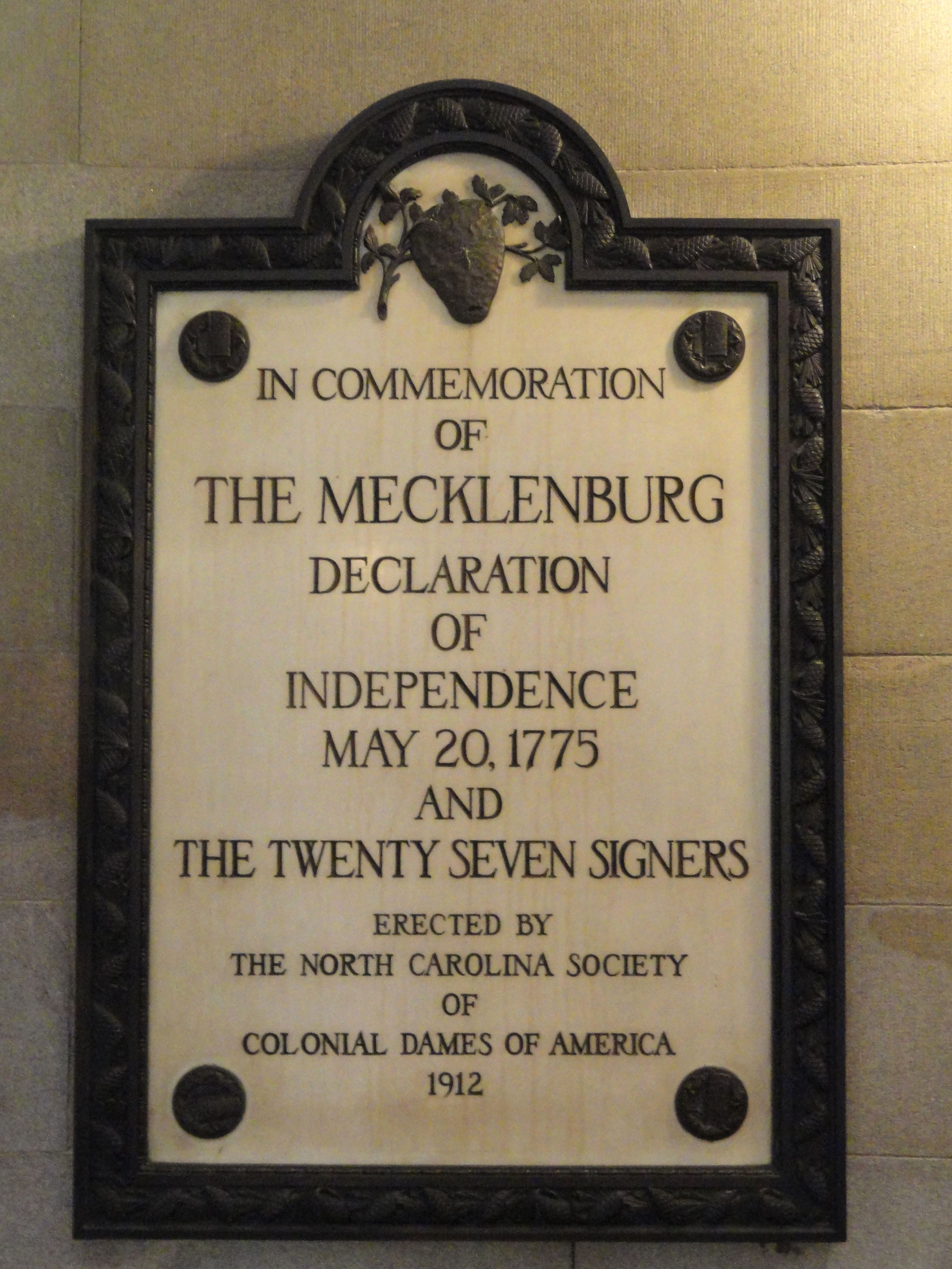 Story Of The Mecklenburg Declaration Of Independence