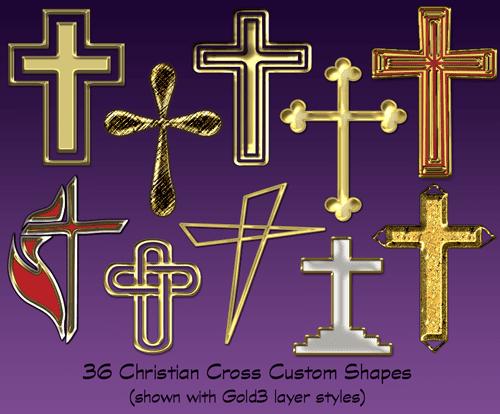 Christian Cross Shapes Set