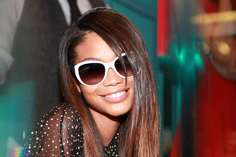 Chanel Iman with ombre hairstyle