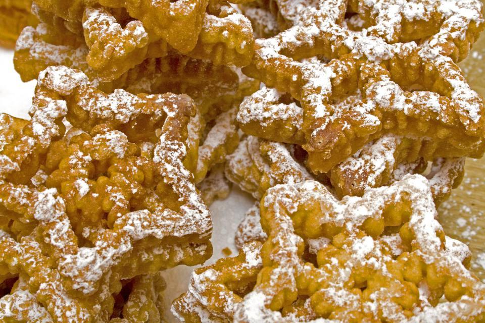 Scandinavian rosette pastry cookies