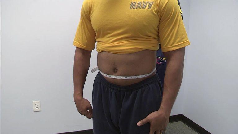 navy weight standards
