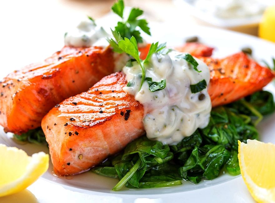 Thai Grilled Salmon with Coconut Sambal