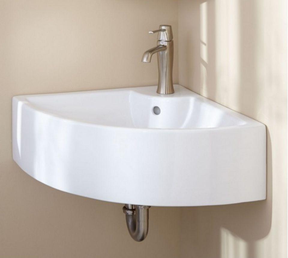 Bathroom corner sink - Sleek Contemporary Style