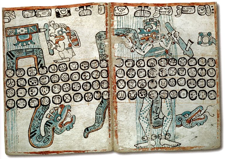 Pages from the Madrid Codex