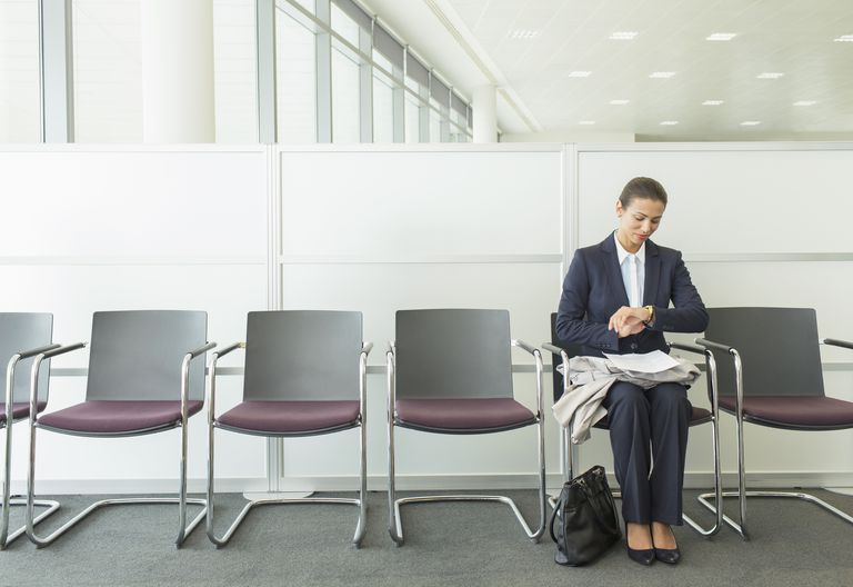 Woman waiting for interview