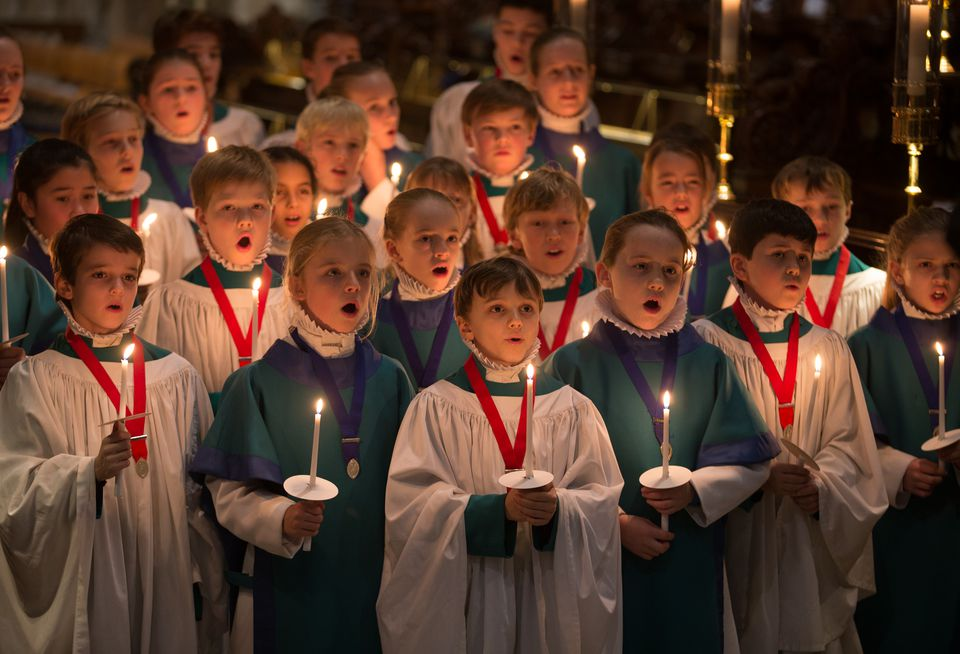 Salisbury Cathedral Choristers Prepare For Christmas