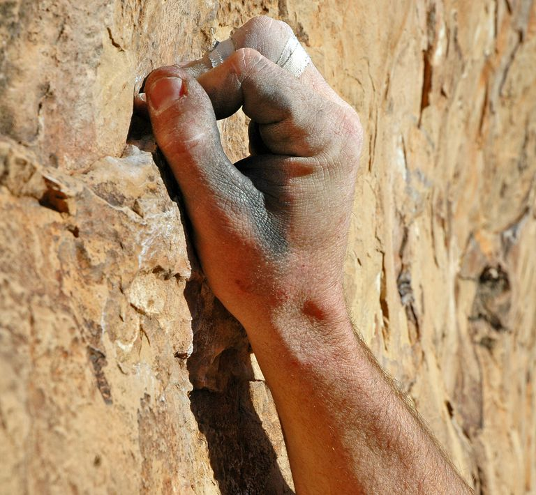 How to use climbing handholds.