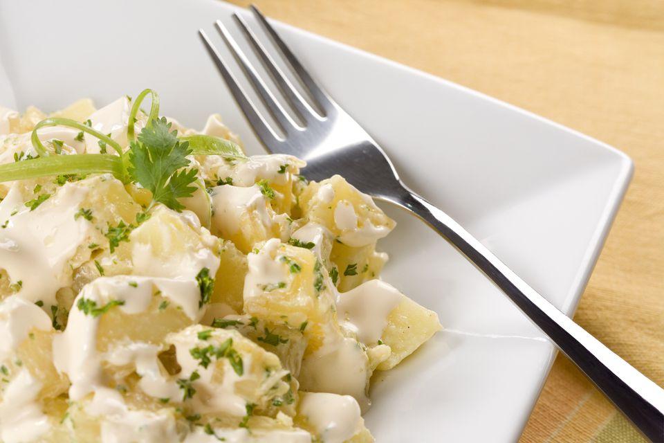 Homemade vegan potato salad