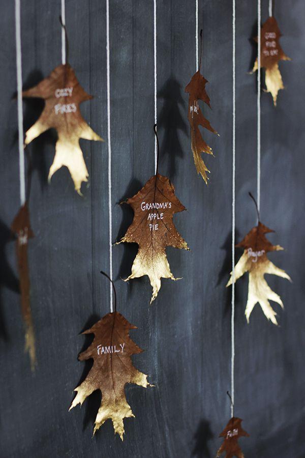 diy falling leaves display