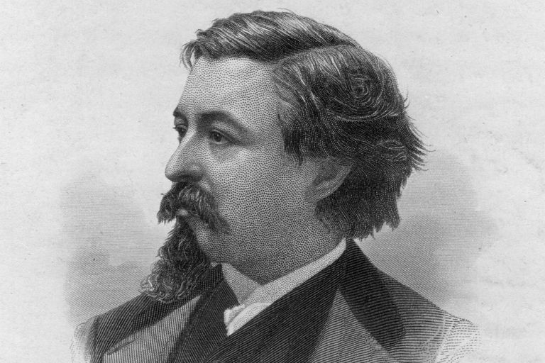 Engraved portrait of cartoonist Thomas Nast