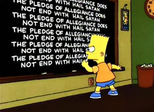 Bart Simpson Chalkboard Message
