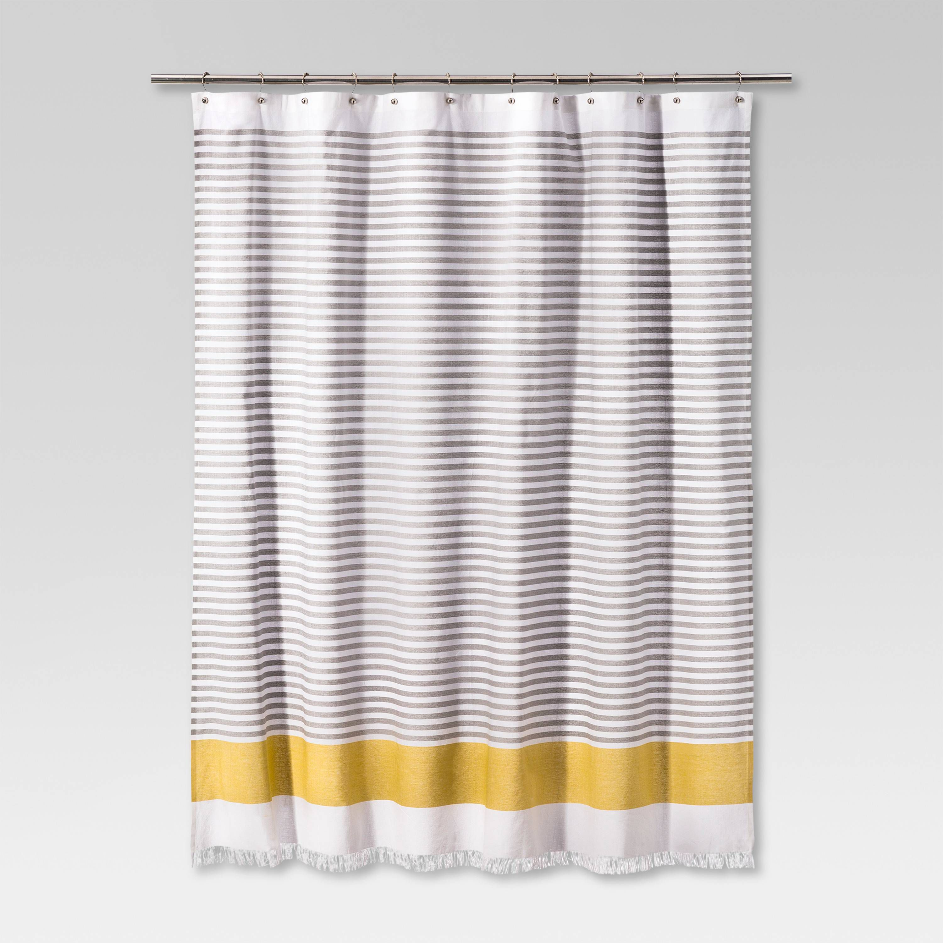 inspirational yellow homeware buy fishpond curtains striped shower of line curtain from bathroom