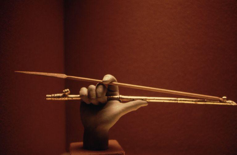 Atlatl Display, Gold Museum of Bogota, Colombia