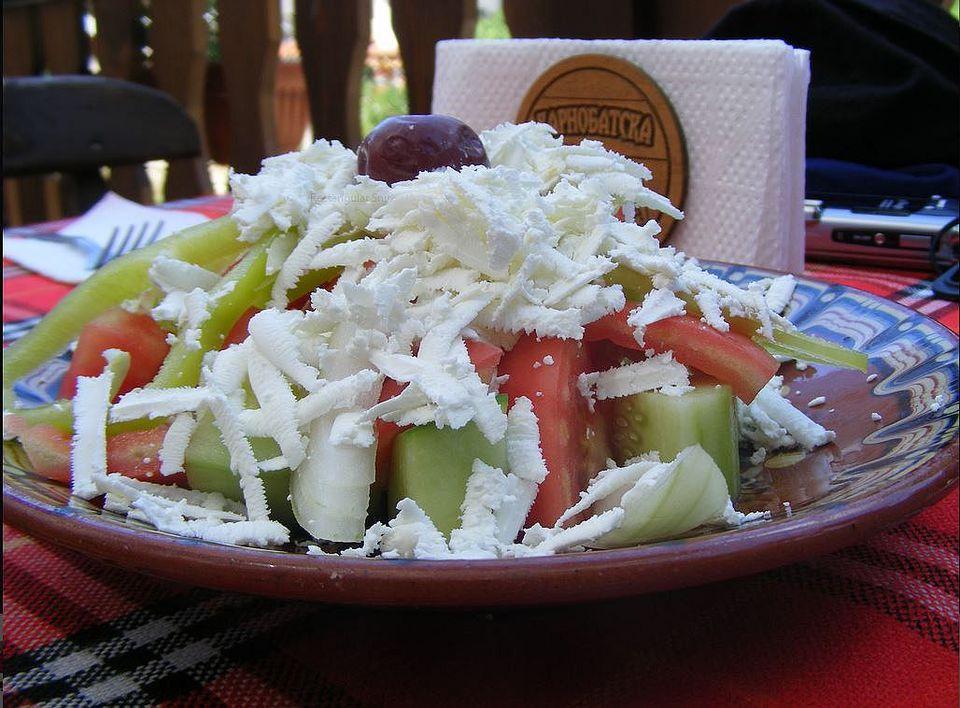 Bulgarian Shopska Salad