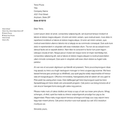 business letter format - Brief Essay Format