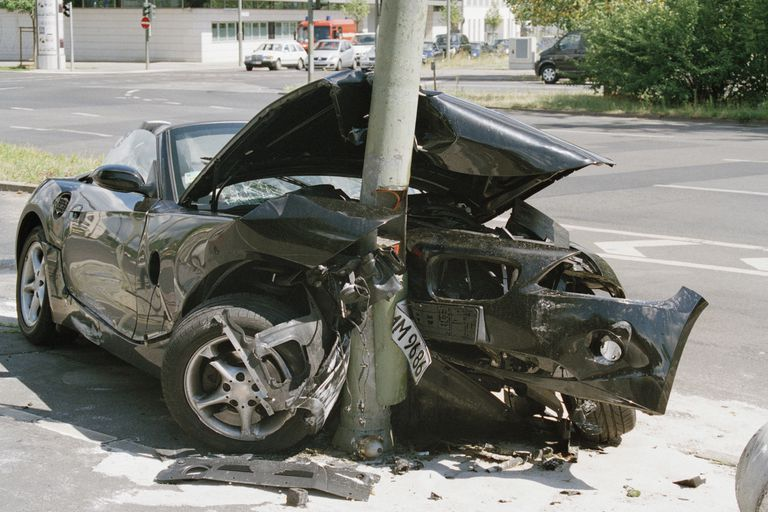 A car accident.