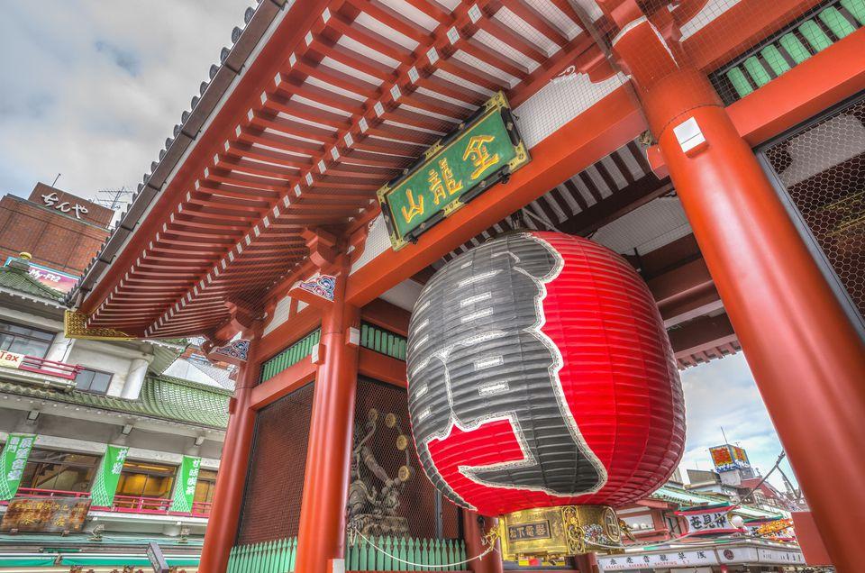 Lantern at Sensoji Asakusa Temple, Tokyo, Japan