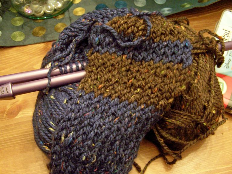 A crocheted Ravenclaw scarf.