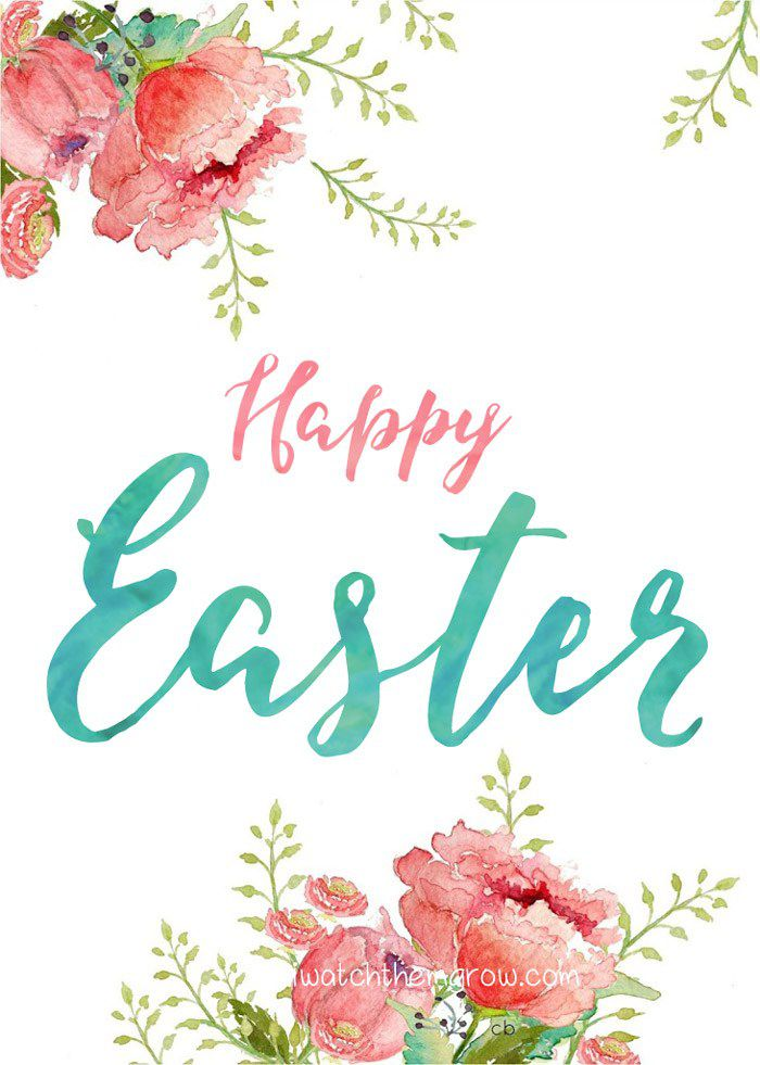 20 Free, Printable Easter Cards for Everyone You Know