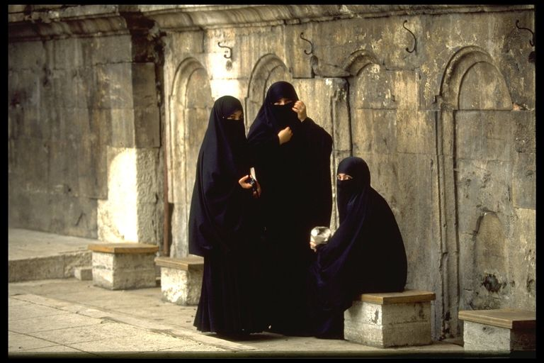 Women wearing the Chador.