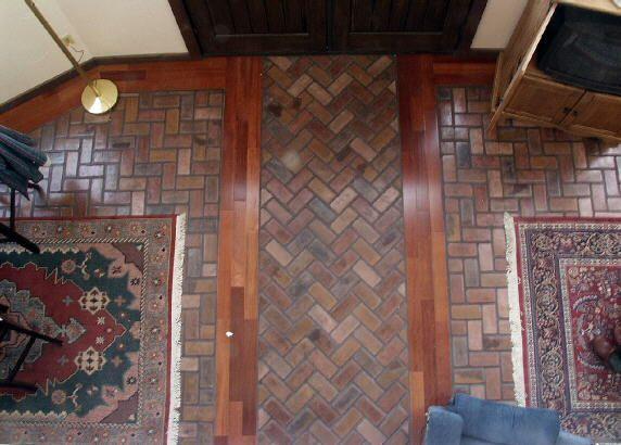 Brick Style Flooring : Brick flooring picture gallery
