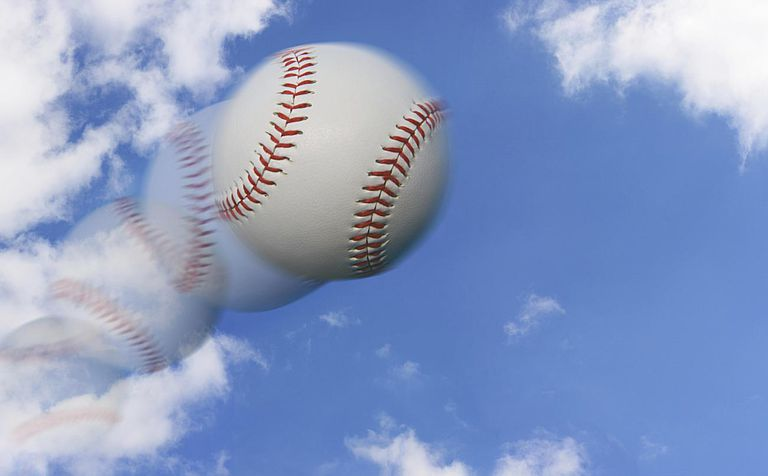 Graphic of Baseball in Mid Air