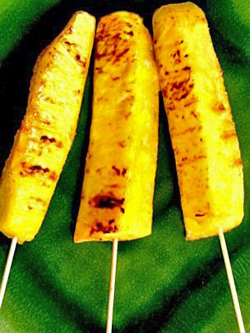 Grilled Pineapple 'Pops'