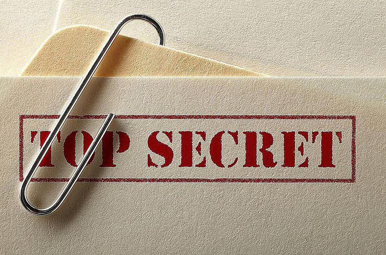 Envelope with Top Secret displayed