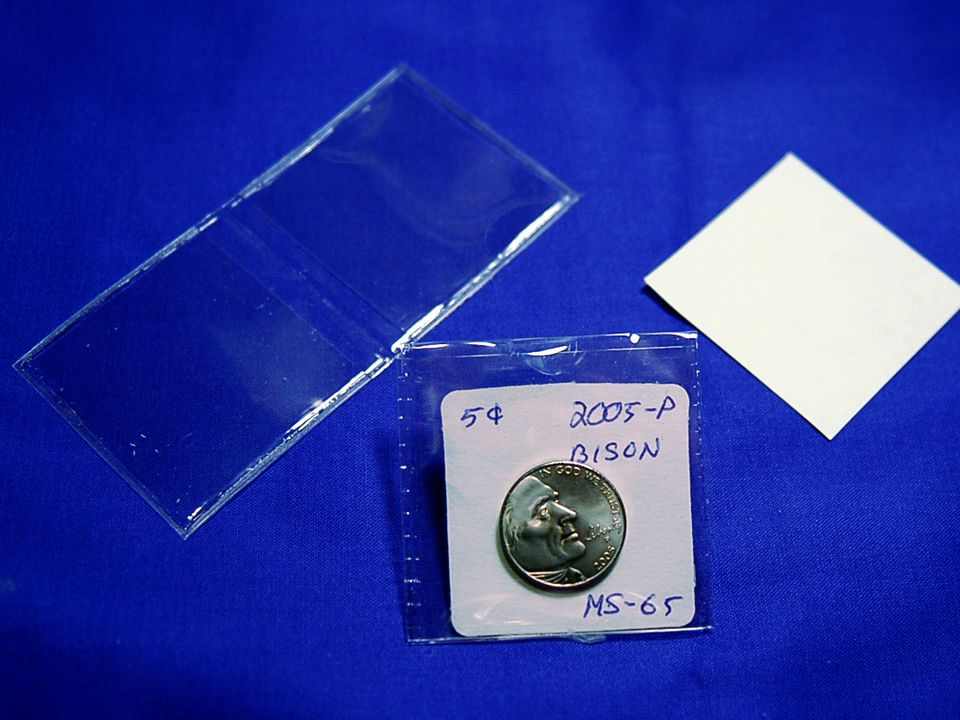 Plastic Coin Flip with Paper Insert