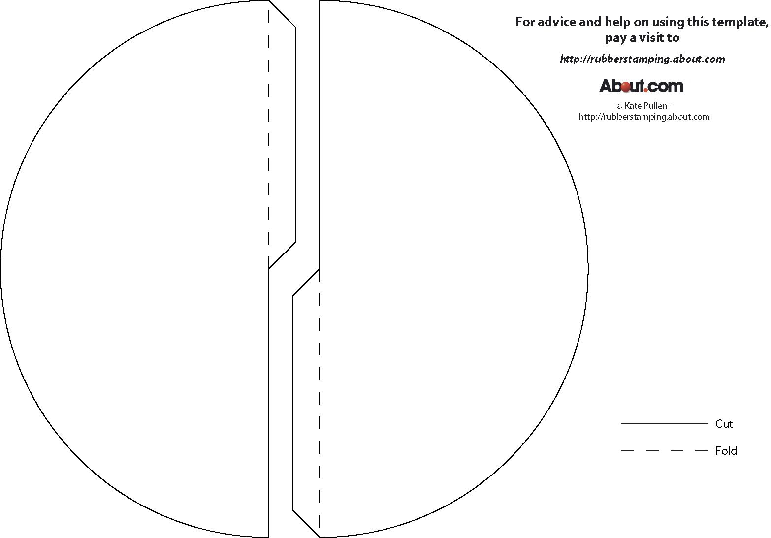 free paper cone pdf template in two sizes