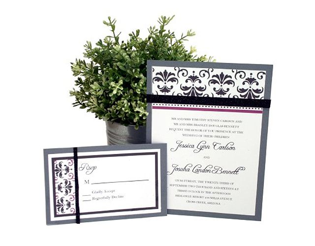 25 free printable wedding invitations damask printable wedding invitation junglespirit Gallery