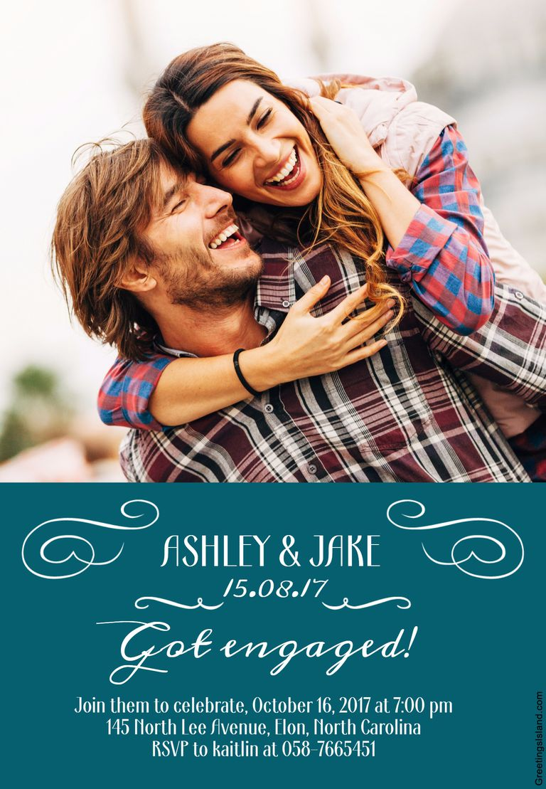 9 Free Printable Engagement Party Invitations – Free Printable Engagement Invitations