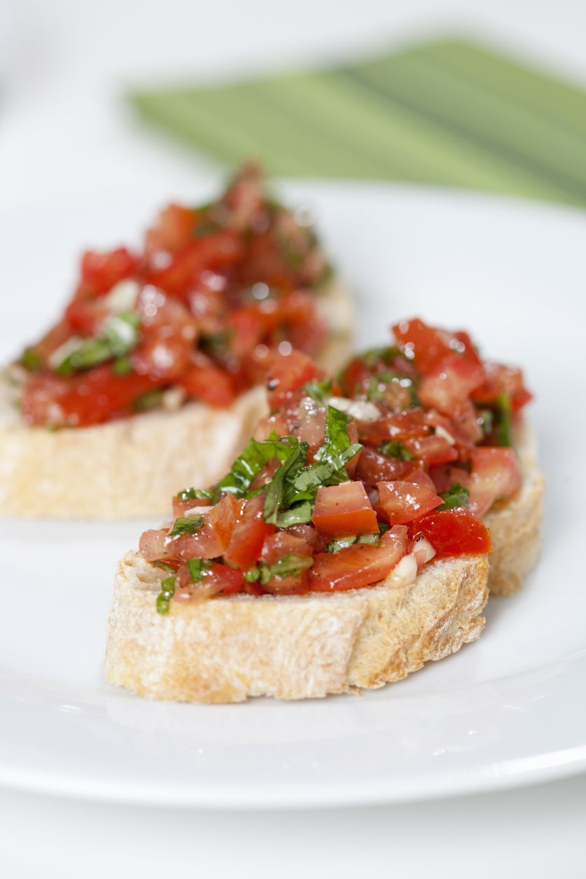 fresh tomato and basil bruschetta recipe. Black Bedroom Furniture Sets. Home Design Ideas