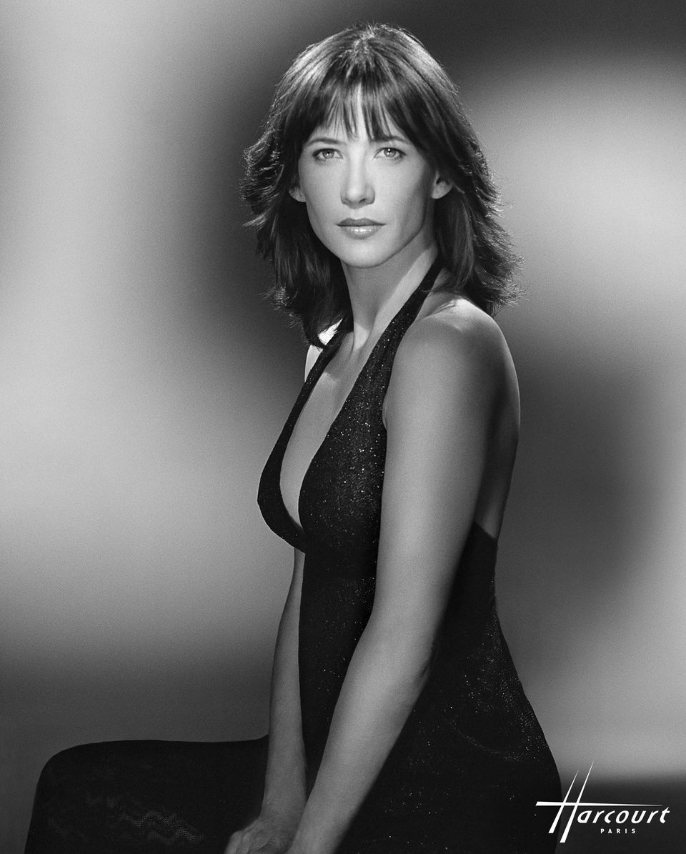 Portrait of French actress Sophie Marceau by Studio Harcourt, Paris