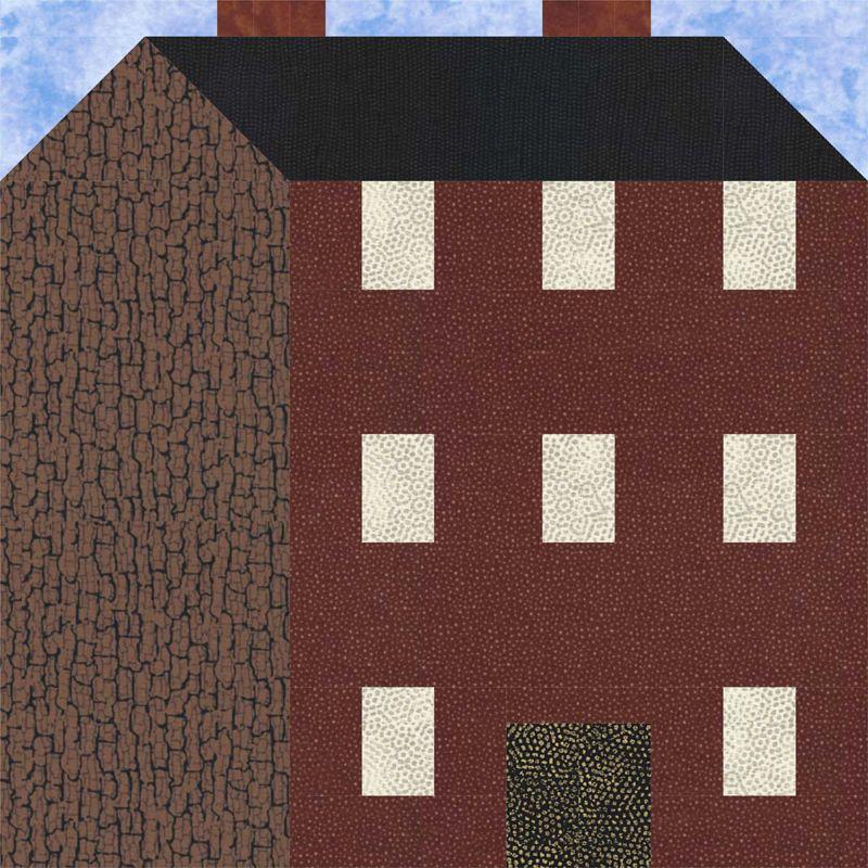 Three Story Building Quilt Block Pattern