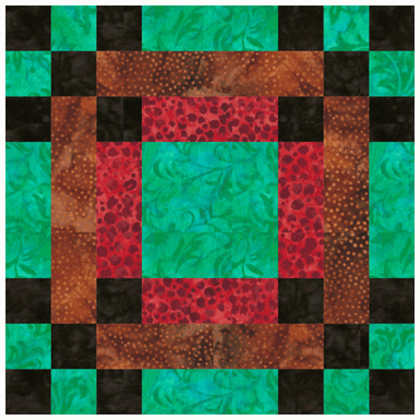 Hen and Chicks Quilt Block Pattern