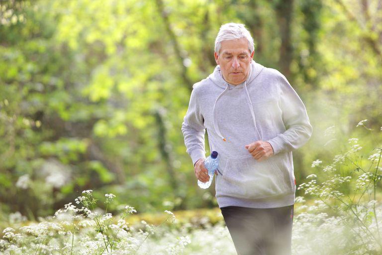 older man jogging outdoors