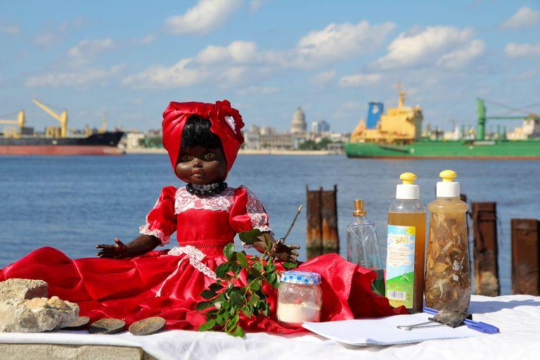 Bruja's black doll