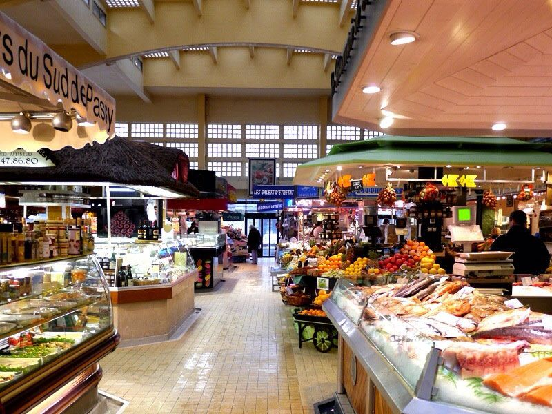 The old covered market at Passy in Paris is considered one of the city's best food markets.
