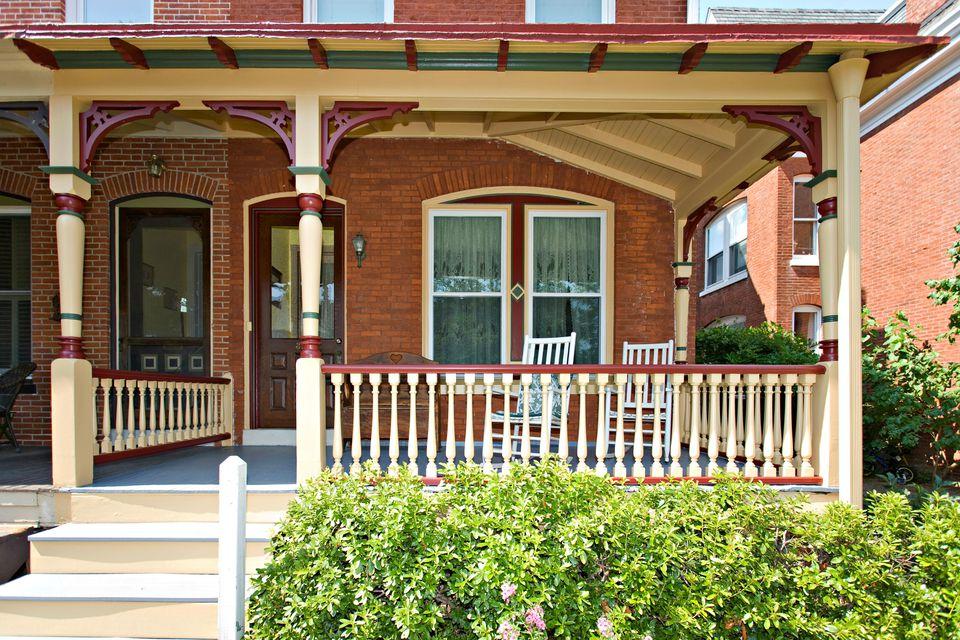 row house porch