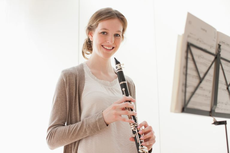woman with clarinet