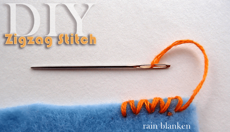 DIY Zigzag Stitch Photo Instructions