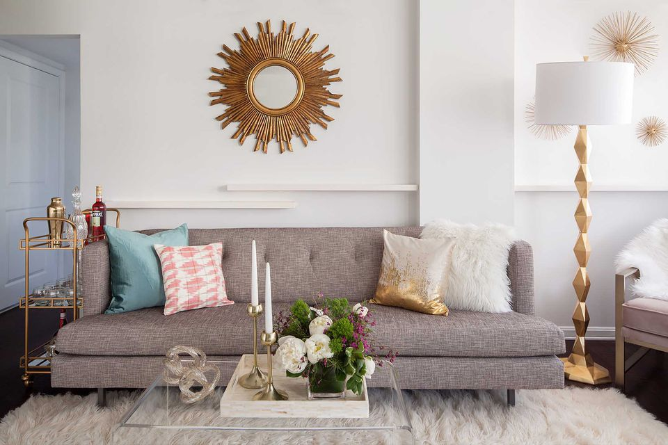 Gold Glam Small Living Room How to Decorate a