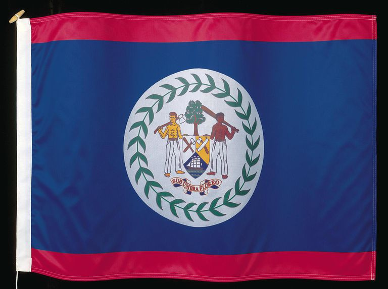 The flag of Belize
